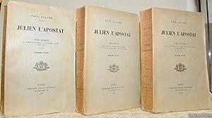 Julien l?Apostat. 3 Volumes.Tome premier : La: ALLARD, Paul.