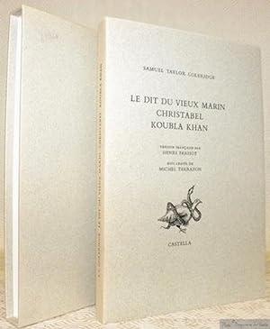 Le dit du vieux marin Christabel Koubla: COLERIDGE, Samuel Taylor.