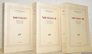 Nouvelles. 3 Volumes.I: Mémoire de la ville: BOULANGER, Daniel.
