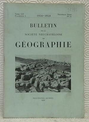 Bulletin de la Société Neuchâteloise de Géographie.: PORTMANN, J.-P. -