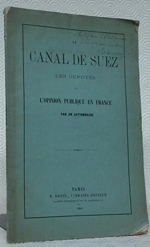 Le Canal de Suez, les Députés et: DE QUINSONAZ).