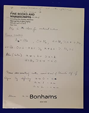 Fine Books and Manuscripts including the Hidden Wartime Manuscript of Alan Turing. [ Bonhams, auc...