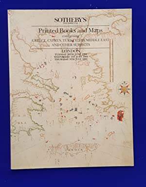 Printed Books and Maps comprising Greece, Cyprus, Turkey, the Middle East and other subjects, inc...