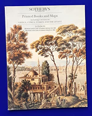 Printed Books and Maps including sections on Greece, Cyprus, Turkey, and the Middle East and Chil...