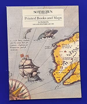 Printed Books and Maps. [ Sotheby's, auction catalogue, sale date: 5 & 19 February, 1991 ].
