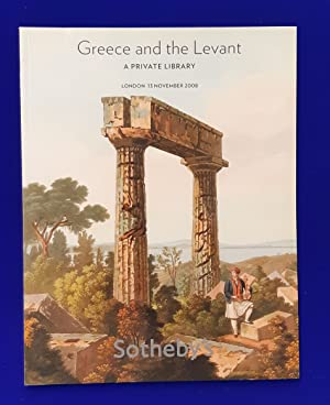 Greece and the Levant : a private library. [ Sotheby's, auction catalogue, sale date: 13 November...