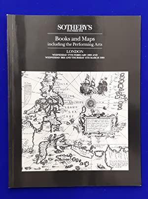 Printed Books and Maps including the performing arts. [ Sotheby's, auction catalogue, sale date: ...