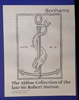 Books, Atlases, Manuscripts and Photographs including the Aldine Collection of the late Sir Rober...