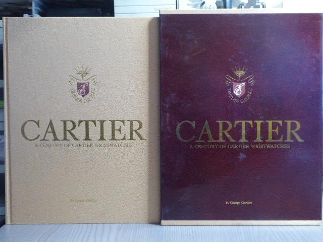 CARTIER. A century of CARTIER wristwatches. CARTIER - GORDON George fort in-4 carré ( 310 X 235 mm ) de 521 pp.-[20] ff. de publicités, skivertex sable doré, titré en lettres d'or sous étui illustré. Plus de 200 belles