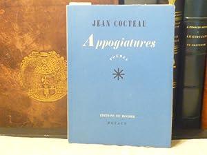 APPOGIATURES. Poèmes.: COCTEAU Jean -