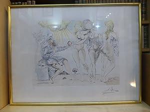 """Lithographie originale signée: """"Le jugement de Pâris"""".: DALI Salvador"""