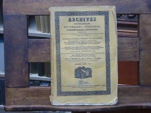 ARCHIVES UNIVERSELLES des progrès, inventions, perfectionnements, découvertes: MALEPEYRE Ainé -