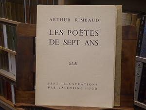 Les poètes de sept ans.: RIMBAUD Arthur -
