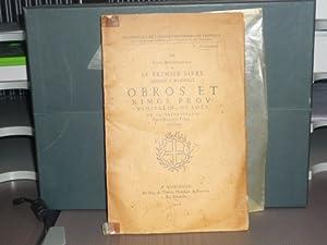 Le premier livre imprimé a Marseille. Obros: ANTOMARCHI P. -