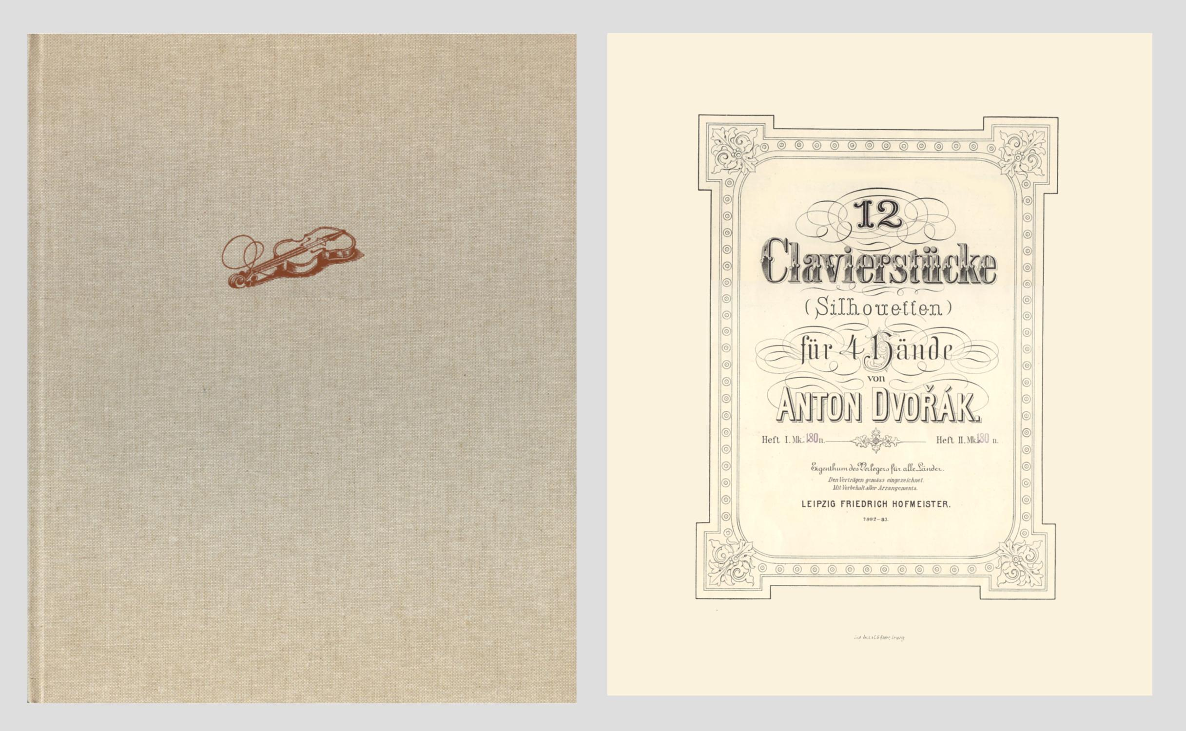 12 Clavierstücke (Silhouetten) für 4 Hände. Heft: Dvorak, Anton -
