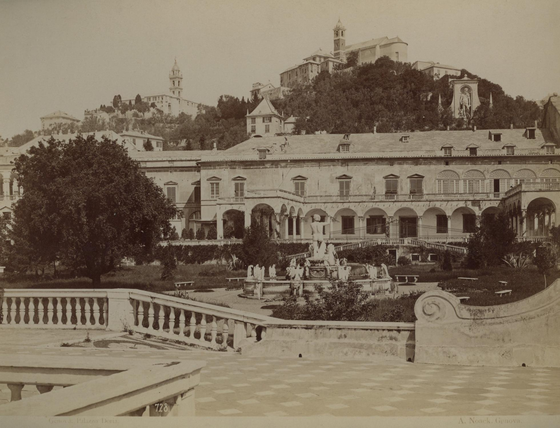 Genova Palazzo Doria Mit Gartenanlage Orig Photo Noack
