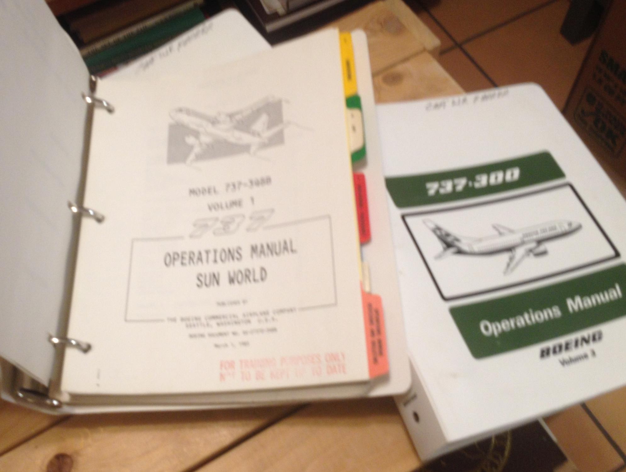 boeings operational manual