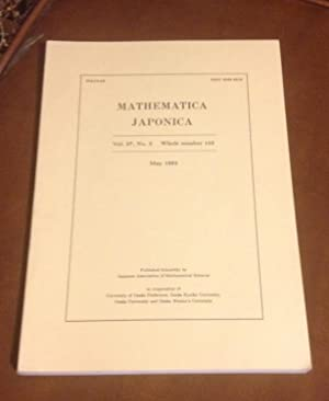 Mathematica Japonica: May 1992 - Vol. 37,: Editorial Committee of