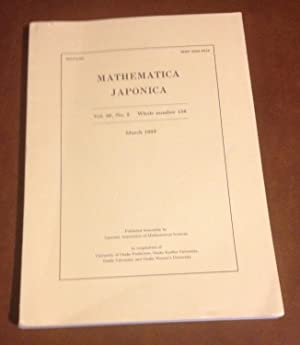 Mathematica Japonica: March 1993 - Vol. 38,: Editorial Committee of