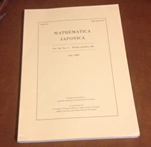 Mathematica Japonica: July 1993 - Vol. 38,: Editorial Committee of