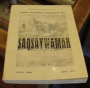 Revista Saqsaywaman, No. 1: Patronato Departamental De Arqueologia Del Cuzco (Luis A. Pardo, dir.)