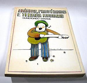 Adágios, provérbios e termos musicais. - Obras: Saraiva, Gumercindo.