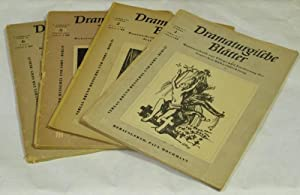 Dramaturgische Blätter. Monatsschrift zur Pflege und Förderung