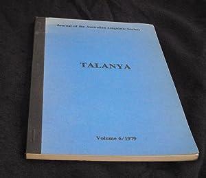 Talanya. Journal of the Australian Linguistic Society.: Platt, J. T.