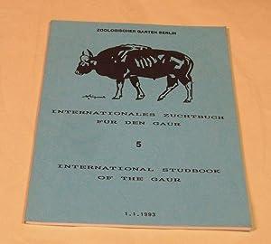 Zoo. - Internationales Zuchtbuch für den Gaur.: Zoologischer Garten Berlin
