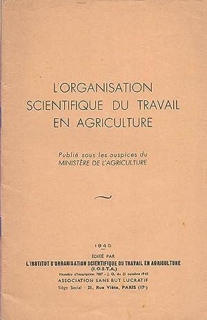 L'Organisation scientifique du travail en agriculture: collectif)