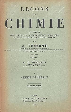 Leçons de chimie à l'usage des élèves: A. Travers