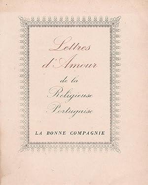 Lettres d'amour de la religieuse portugaise: Alcaforado, Marianna