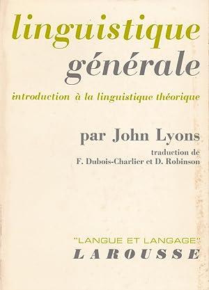 Linguistique générale : introduction à la linguistique: Lyons, John