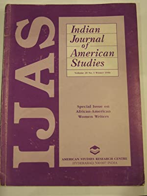 Indian Journal of American Studies Special Issue: ALLADI UMA (Guest