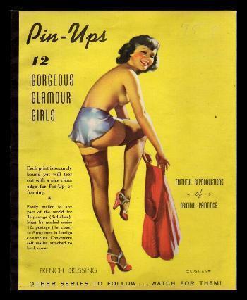 PIN UPS: 12 Gorgeous Glamour Girls Elvgren, Drake Very Good Softcover