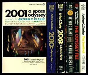 an introduction to the 2061 a space odyssey three 1982, 2010: odyssey two, phantasia press, 0932096190, second part of the space odyssey series 1984, the odyssey file, del rey-ballantine, 0345321081 , email c orrespondence between arthur c clarke and peter hyams, director of the 2010: odyssey two film 1988, 2061: odyssey three, grafton, 0246133236.