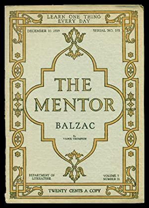 THE MENTOR - HONORE DE BALZAC - December 15 1919 - Serial Number 193 - Volume 7, number 21
