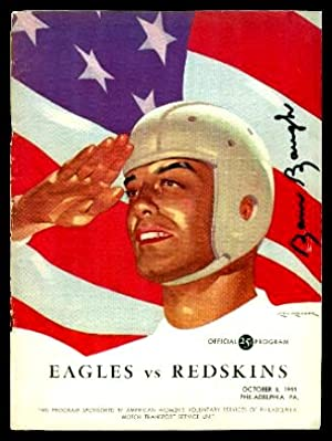 OFFICIAL PROGRAM - Eagles vs Redskins - October 8, 1944 - Philadelphia PA