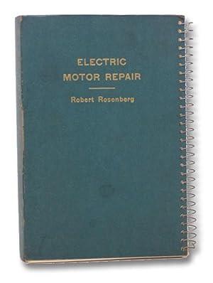rosenberg electric motor repair abebooks rh abebooks com Motor Manual Cover Manual Motor Starter Wiring Diagram