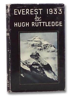 Everest, 1933 (Black Jacket Books): Ruttledge, Hugh