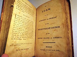 The Constitution of the Presbyterian Church in the United States of America: Presbyterian Church in...