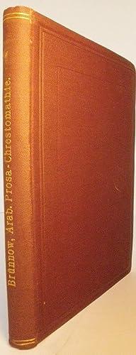 Chrestomathie aus Arabischen Prosaschriftstellern im Anschluss an Socin's Arabische Grammatik:...