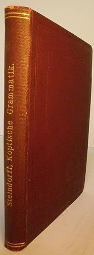 Koptische Grammatik mit Chrestomathie, Worterverzeichnis und Litteratur: Steindorff, Georg