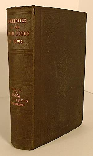 Proceedings of the Grand Lodge of Iowa,: PARVIN, T. S.