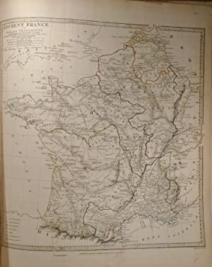 Map of Ancient France or Gallia Transalpina: KEY, T. Hewett