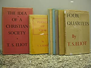 essays ancient and modern eliot Faber & faber, london 1936 1st ed, first printing  8vo a very clean bright unmarked copy in an unclipped dustwrapper, now with a faded spine and a degree of sunning to the head of the.