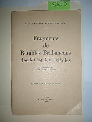 Fragments de retables Brabançons des XVe et: Musée Curtius