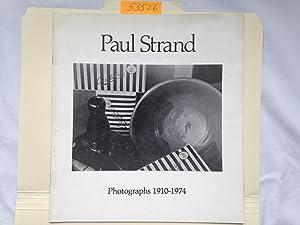 Paul Strand: Photographs 1910-1974: Russ Anderson; Paul