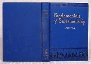 Fundamentals of Salesmanship: R. G. Walters