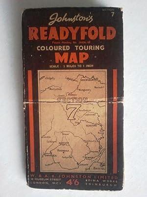 Johnston's Readyfold Coloured Touring Map 3 miles